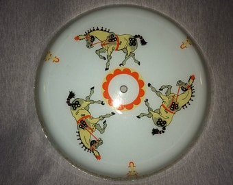 Vintage Light Cover, Carnival Circus Horses