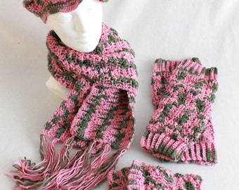 Warm It Up Set Crochet Pattern PDF