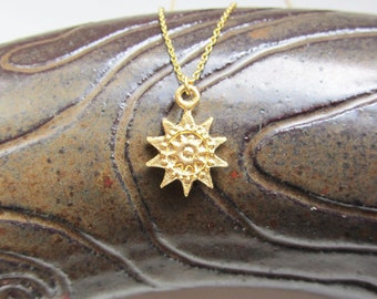 Gold sunburst necklace,sunburst necklace,sun necklace,sun necklace gold, gold sun necklace, Celestial