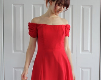 Red dress, Prom dress, Evening dress, bridesmaid,  red , Size 8 Us, 38 Eur