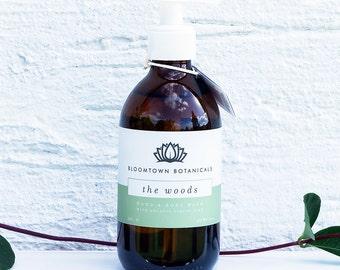 Natürliche Bio-Vegan Flüssigseife – Hand & Duschgel – Pumpe Seife – Vetiver, Zeder Bergamotte – Paraben-frei – Bloomtown Grausamkeit Schönheit