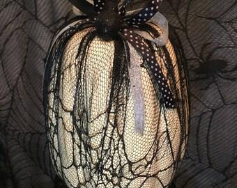 Decorative Pumpkin Covered in Lace
