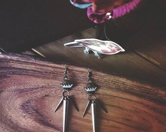 Crown Spike Earrings