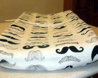 Where's My Stache? Mustache Changing Pad Cover