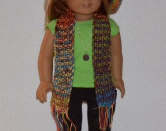 Hand-knit Beret and Scarf