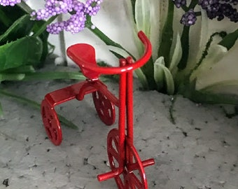 Miniature Red Metal Tricycle