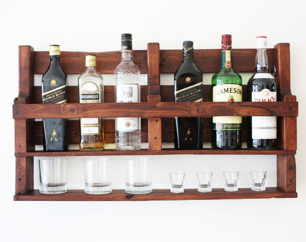 pallet whiskey rack. 🔎zoom Pallet Whiskey Rack Etsy