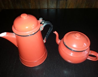 Coffee and glazed milk jug