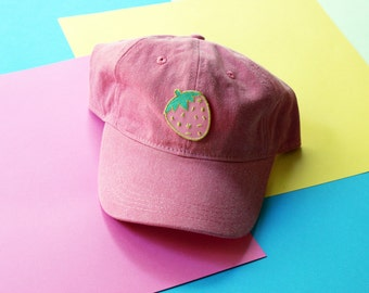 Confetti Strawberry Patch Baseball Hat - Strapback LIMITED