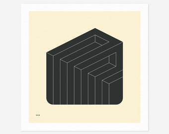 SYSTEMS 28 (Giclée Fine Art Print/Photo Print/Poster Print) Minimal Geometric Abstract Art