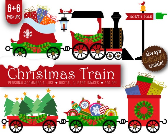 christmas train clipart xmas christmas train xmas train rh etsy com christmas train clipart black and white christmas toy train clipart