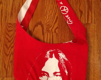 "John Lennon ""Give Peace a Chance"" Crossbody Bag"