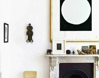 "Black, White 11""x15"" Fine Art Paper Original Painting Abstract Minimalist Modern Art Contemporary Artwork"