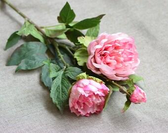 Pink Peonies Real Touch Peonies White Purple Peonies DIY Wedding Flowers Silk Bridal Bouquets
