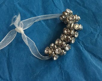 Large Hole Glass Beads/ Spacers- Pandora style - Sold Indivudually