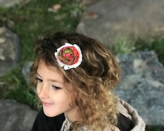 Vintage Rolled Rose Lace Headband