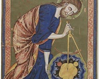 God The Geometer - Meditation Poster