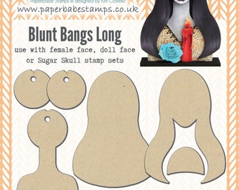 Portrait Media Blanks ~ Blunt Bangs Long Kit ~ Paperbabe Stamps ~ MDF Substrate for mixed media and craft.