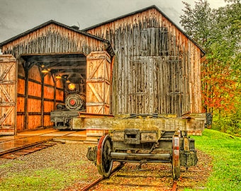 Old Railroad Steam Engines