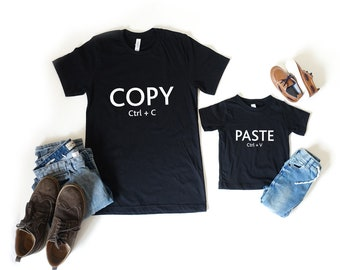 Copy & Paste Shirt Set, Fathers Day Gift, Matching Tops, Daddy Daugther Top, Top Set, LegendAttire, Gift for Him, Gift For Dad, Dad Gift
