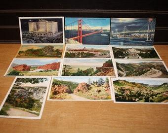 Vintage Unused Postcards set of 12