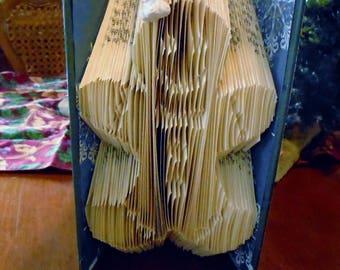 Gingerbread Folded Book Art