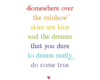 Somewhere Over the Rainbow Wall Art