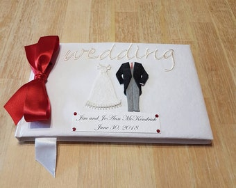 Personalized Wedding Guest Book - Bride and Groom