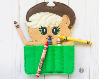 My Little Pony Inspired AppleJack Crayon Holder