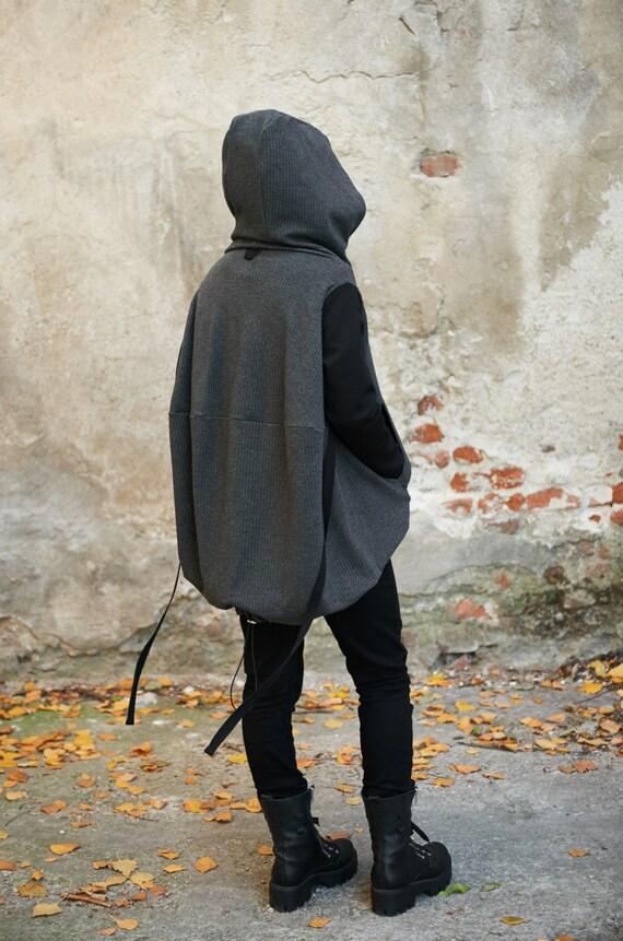 Hoodie Winter Hoodie Jacket Hoodie Plus Goth Size Grey Girlfriend Steampunk Christmas Sweatshirt Hoodie Gift Womens Cape Sweatshirt qTS686