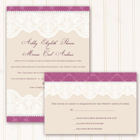 wedding invitations, wedding invitations with rsvp, rose wedding invitations, Victorian wedding invitations, Victorian bridal shower,  IN269