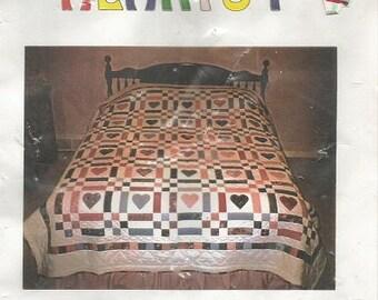 "Quilt Corner ""Patchwork Hearts"" Quilt Pattern"