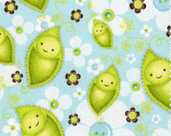 Close Out Priced - Stitched Garden Baby Bundle Green Peas Fabric