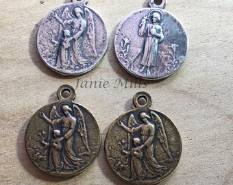 Guardian Angel Medal  France Choose from Bronze or Sterling Silver