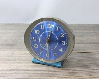 Vintage blue Westclox Baby Ben wind up alarm clock, vintage midcentury alarm clock, does not work. Westclox, Baby Ben, wind up, alarm, clock
