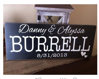Personalized Wedding/Anniversary Sign
