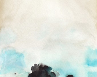 Landscape Artwork Painting - Watercolor Painting - Gift for Her - Landscape Painting Print - Fragile - 11x14 Giclee Print