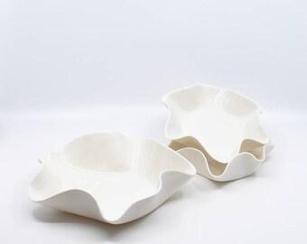 Handmade Porcelain Bowl Set of 3, Minimalist Dinnerware, Bowls, Gift for Her, Wedding Gift, Housewarming Gift, Gift for Mom