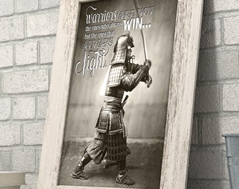 Samurai Warrior With Sword Fight Like A Warrior 11x14 Unframed Art Print Great Dojo Decor/Gift People Who are Fascinated by Japanese History