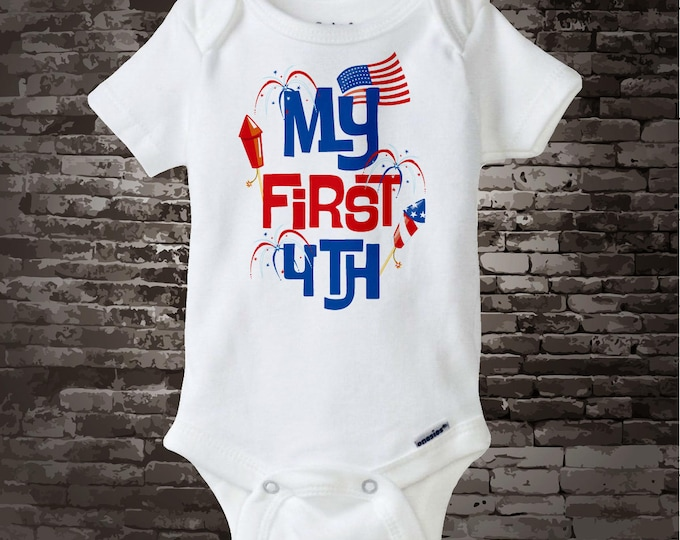 4th July Onesie   My First 4th of July Tee Shirt or Onesie, My 1st July 4th Onesie   4th July Shirt or Onesie   1st 4th July 06182012a