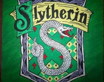 Slytherin Harry Potter Painted House Crest Symbol Logo