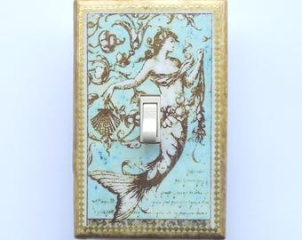 18 different Mermaid Switch plates- MATCHING SCREWS on Mermaid decoration mermaid bathroom decoration mermaid wall plate decorative mermaids