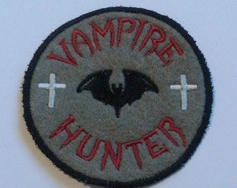 Vampire Hunter patch, bat, patches, Vampire Slayer, Bram Stoker, Dracula, UK