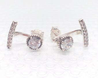 NEW Authentic Pandora  Abstract Elegance CZ Earrings 290743CZ