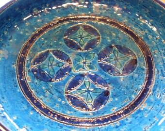 Lovely Bitossi Italy Pottery Bowl Aldo Londi  1960's Ceramic Retro Fine Art