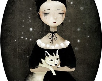 The Queen of Sorrow - open edition print - Whimsical Art