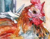 Rooster Painting - Print ...