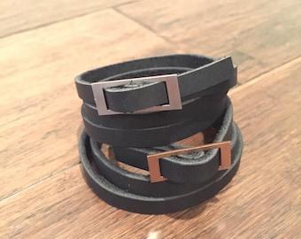 Center Bar Triple Wrap Bracelet