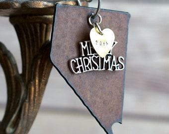 NEVADA Christmas Ornament, NEVADA Ornament, Christmas Gifts 2018 Christmas Ornaments, Personalized Gift for Her, NEVADA Ornaments