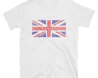 Vintage UK Union Jack Flag T Shirt